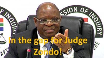 In the gap for Judge Zondo